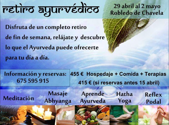 Retiro ayurvedico meditacion, masaje abhyanga